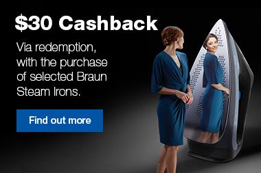 Braun Mid Season Ironing Cashback
