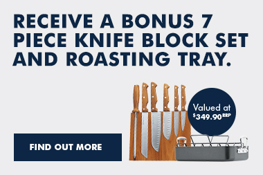 De'Longhi Bonus Knife Block & Roasting Tray July 2018